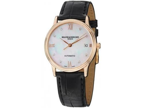 BAUME & MERCIER Classima 18ct Red Gold AUTOMATIC Gents Watch 10077