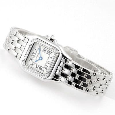 CARTIER Panthere 18ct White Gold & Diamond Ladies Watch WF3091F3