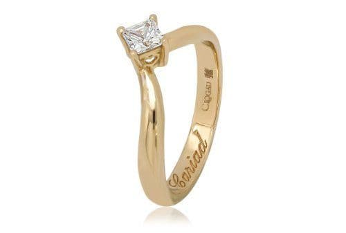 CLOGAU GOLD Make a Wish Yellow Gold & Diamond Engagement Ring ENG3TPY
