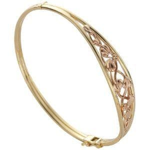 CLOGAU GOLD Tree of Life Bangle 9ct Gold TLB