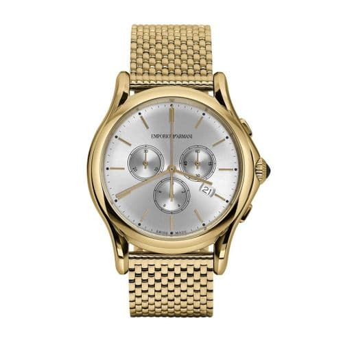 EMPORIO ARMANI Swiss Made Gold Chronograph Gents Watch ARS4012