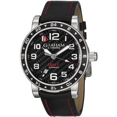 GRAHAM Silverstone Timezone Racing Black AUTO Gents Watch 2TZAS.B02A