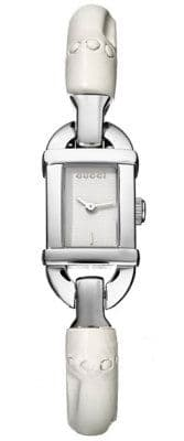 GUCCI  6800 White Bamboo Ladies Watch YA068535