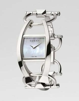 GUCCI Chiodo SOLID SILVER Ladies Watch YA123501