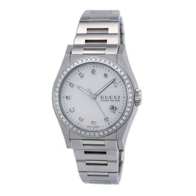 GUCCI Pantheon 60 Diamond Watch YA115404
