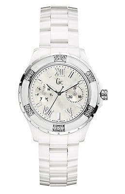 GUESS Collection Gc Sport Class XL-S Glam Ceramic & Diamond Ladies Watch X69117L1S