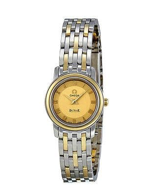 OMEGA De Ville Prestige Quartz 18ct Yellow Gold Ladies Watch 4370.12.00