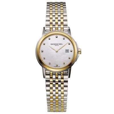 RAYMOND WEIL Tradition Steel & Gold Ladies Watch 5966-STP-97001