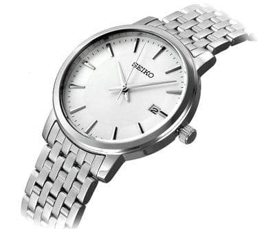 SEIKO 38mm Silver Dial Stainless Steel Gents Watch SGEF87P1