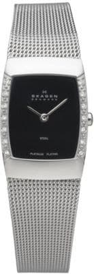 SKAGEN Swarovski Platinum plated Steel Ladies Watch 684XSSBPL