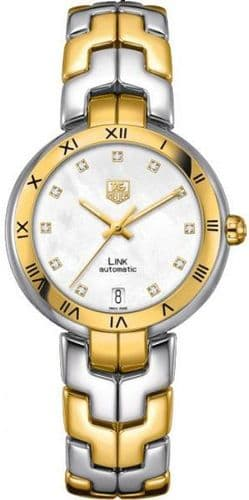 TAG HEUER Link Lady 18ct Gold & Diamond Dial Automatic Ladies Watch WAT2351.BB0957