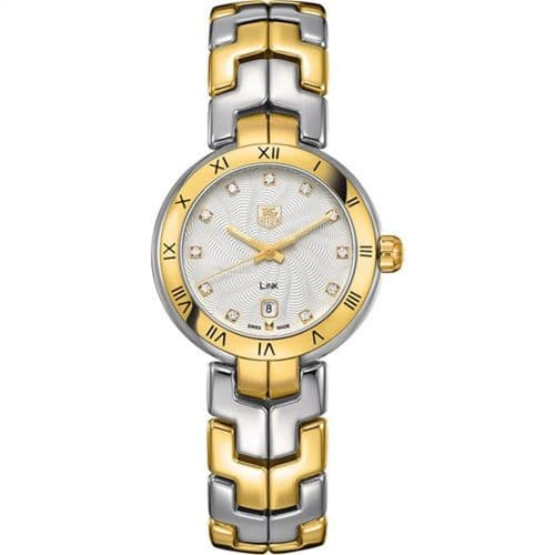 TAG HEUER Link Lady 18ct Gold & Diamond Dial Ladies Watch WAT1450.BB0955