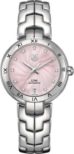 TAG HEUER Link Lady Diamond Dial Automatic Ladies Watch WAT2313.BA0956