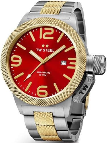TW STEEL Canteen 50mm Automatic Two-tone Gold Gents Watch CB76