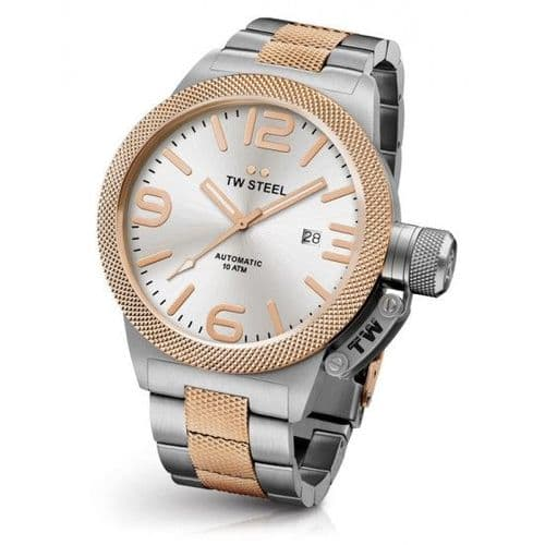 TW STEEL Canteen 50mm Automatic Two-tone Rose Gold Gents Watch CB126