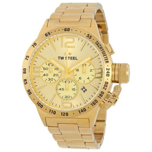 TW STEEL Canteen 50mm Gold Chronograph Gents Watch CB104