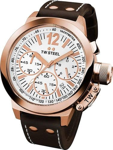 TW STEEL CEO Canteen Rose Gold Chronograph Watch CE1019