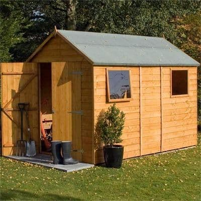 This Rowlinson Premier 10X6 apex garden shed is built using 12mm tongue & groove shiplap. This shed has ample of storage space for your garden furniture and tools or for use as a workshop.