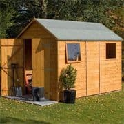 Rowlinsons Premier 10X6 Apex Shiplap Garden Shed With 2 Windows