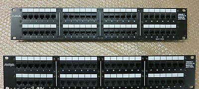 2x Avaya 48-Port 100Base-TX 2512 CAT5 PS Modular Jack Panel,  PNL-2512CAT5PS2-48