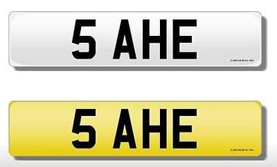5 AHE Vehicle Private Car Bike Number Registration Cherished Plate AHE