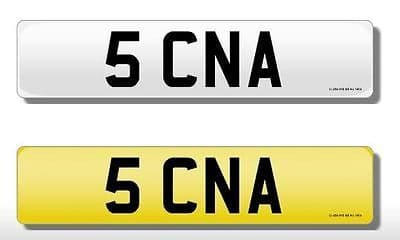 5 CNA Vehicle Private Car Bike Number Registration Cherished Dateless Plate CNA