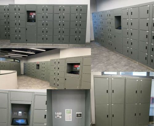 98 Eurolockers Fully Automatic Automated Electronic Security Keyless Lockers