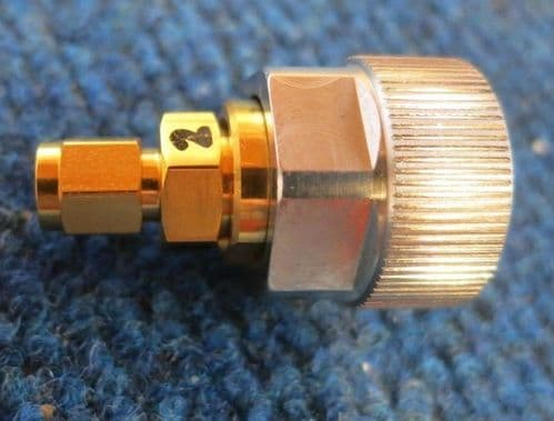 Amphenol 960361 APC-7 Male to SMA Male 50ohms 18GHz Straight RF Coxial Adapter