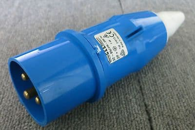 Bals CEE Norm Blue Industrial Plug  2P+E IP44 32A 250V 21013 Plug Fittings