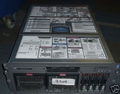 HP Proliant DL580 G2 2 x XEON 2.8Ghz rack mount server with full specification