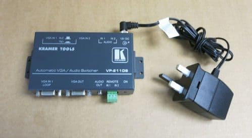 Kramer VP-211DS Automatic 2X1 VGA Auto Standby Switcher With Audio & AC Adapter