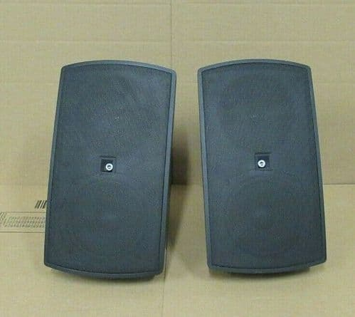 Pair Audac ATEO6 2 Way Compact 8 Ohm 60 Watt Clever Mount Wall Speaker In Black