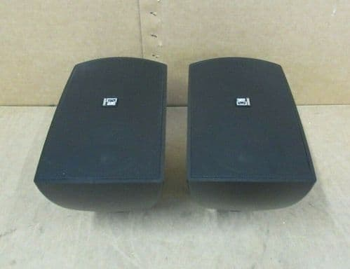 Pair Of Audac ATEO6 2 Way Compact 8 Ohm 60 Watt Clever Mount Wall Speaker Black