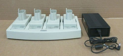 Symbol 20-33569-01R 4-Slot Universal Battery Charger + 4x Adapter & AC Adapter