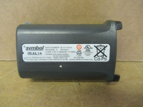 Symbol 82-111734-01 7.4V/17.76Wh Li-Ion Rechargeable Battery for MC9000 Series
