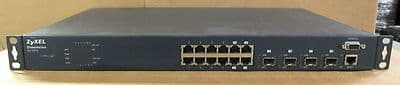 ZyXEL Dimension ES-3012 Gigabit 12x10/100/1000 & 4 Mini-gbic Snmp Managed Switch