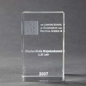 LSE Engraved Paperweight