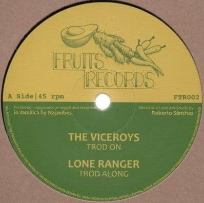 """The Viceroys, Lone Ranger, Prince Alla  Troddin' On 12"""" Fruits Records"""