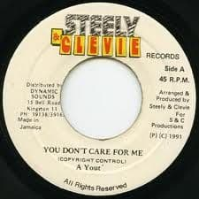 """A Yout - You Don't Care For Me 7"""" Dancehall Reggae"""