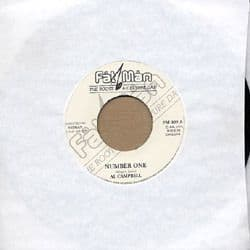"""AL CAMPBELL  - NUMBER ONE /  Dub 7"""" Fatman REISSUE"""