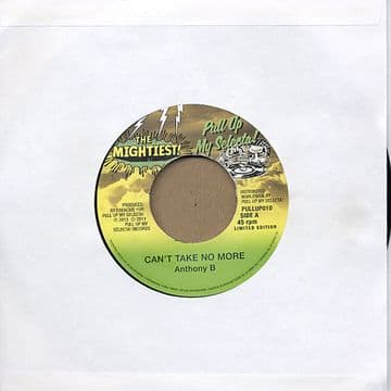 """Anthony B - Can't Take No More / Mr. Vegas - No Plastic Dolly 7"""" The Mightiest / Number One Station rhythms PULL UP MY SELECTA"""