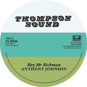 """Anthony Johnson - Hey Mr Richman / Bunny Lie Lie - Don't You Try 12"""" Iroko Records"""