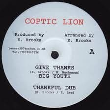 "Big Youth - Give Thanks / Thankful Dub / Mike Brooks - Mystic 10"" Coptic Lion"