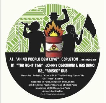 "Capleton - Ah No People Dem Love / Johnny Osbourne & Ras Demo - The Right Time 10"" Fogata"