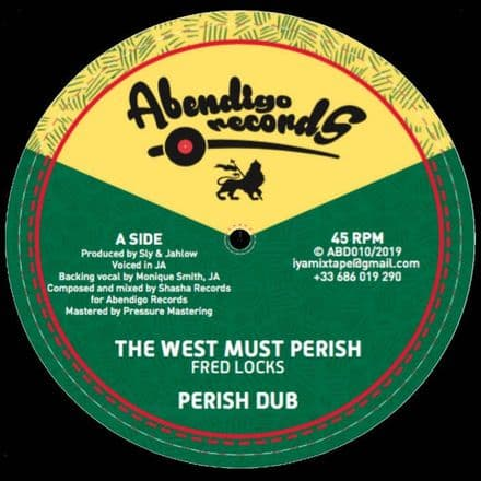 """Fred Locks - West Must Perish / Earl Sixteen - Africa Is On The Move 12"""" Abendigo Records"""