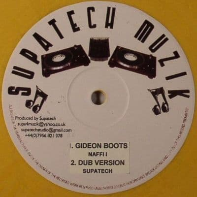 """Gideon Boots - Naffi i / The world Is In Danger 10"""" NEW"""