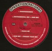 "Jah Mikes - Righteousness / Instrumental Mix / Dub Mix / Bless Me / Dub Mix / Shaggy Tojo Mix 12"" Operation Records"