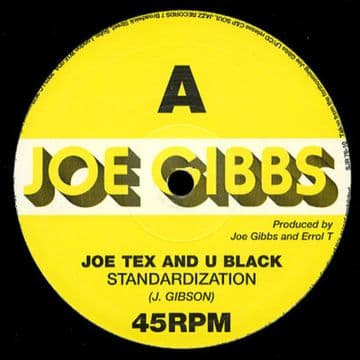 "Joe Tex & U Black - Standardization / Joe Gibbs 10"" NEW"