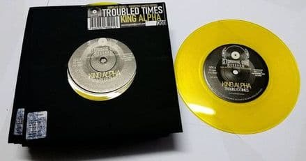 """King Alpha - Troubled Times / Keep Strong Dub 7"""" Storming Dub Records"""