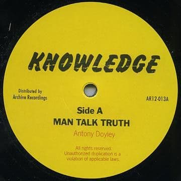 """Knowledge - Man Talk Truth / Let Us All 12"""" Archive"""